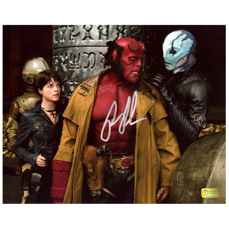 Ron Perlman Autographed Hellboy II with Liz and Abe Sapien 8x10 Photo