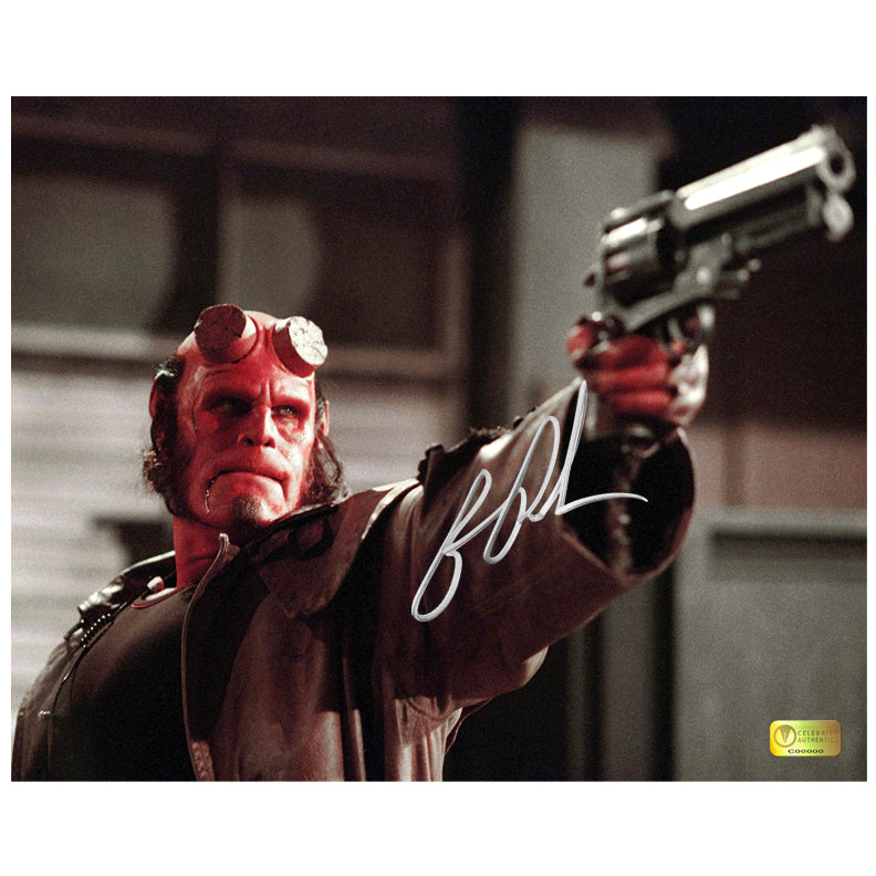 Ron Perlman Autographed Hellboy Samaritan Battle 8x10 Photo