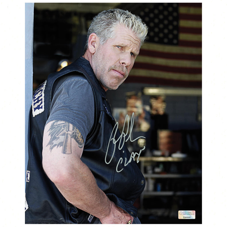 Ron Perlman Autographed Sons of Anarchy Clay 8x10 Scene Photo