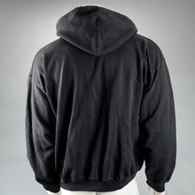 Load image into Gallery viewer, Sons of Anarchy Clay Morrow Screen Worn Black Hooded Sweatshirt with Ron Perlman Signed Letter of Authenticity
