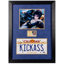 Load image into Gallery viewer, Cassandra Peterson Autographed Elvira: Mistress of the Dark California State Kickass License Plate Display
