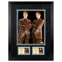 Load image into Gallery viewer, Oliver & James Phelps Autographed Harry Potter Fred & George Weasley 8x10 Photo