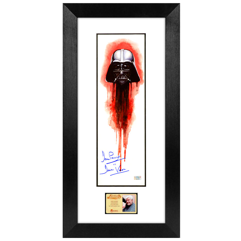 David Prowse Autographed Star Wars Darth Vader 5.5x17 Art Print