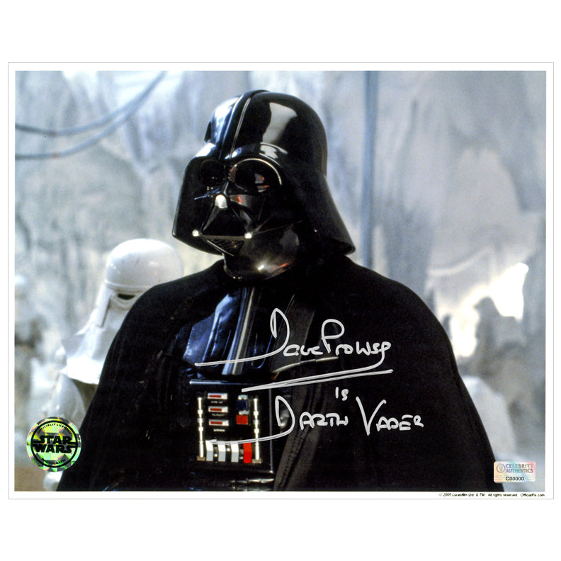 David Prowse Autographed Star Wars: The Empire Strikes Back Darth Vader Invasion of Echo Base 8x10 Photo