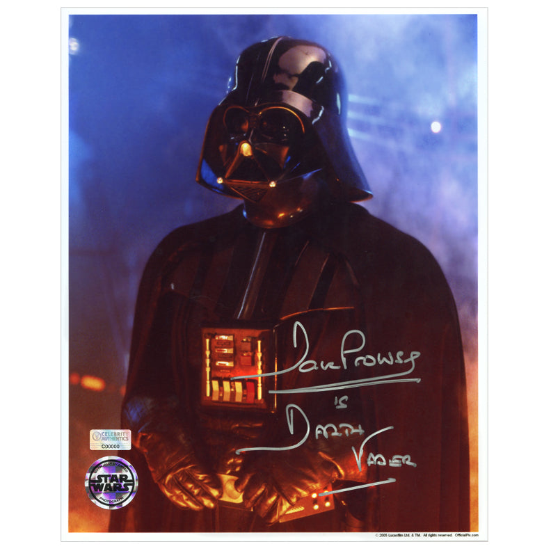 David Prowse Autographed Star Wars Darth Vader Hands On Belt 8x10 Photo
