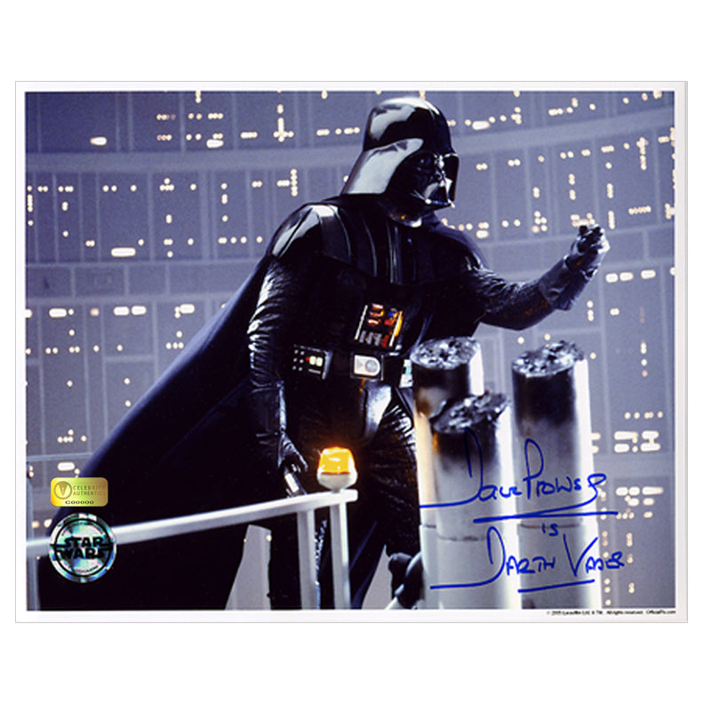 David Prowse Autographed Star Wars Darth Vader Gantry 8x10 Photo