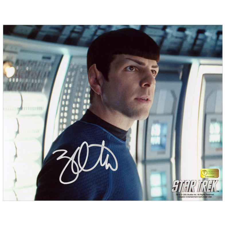 Zachary Quinto Autographed Star Trek First Officer Spock 8x10 Photo