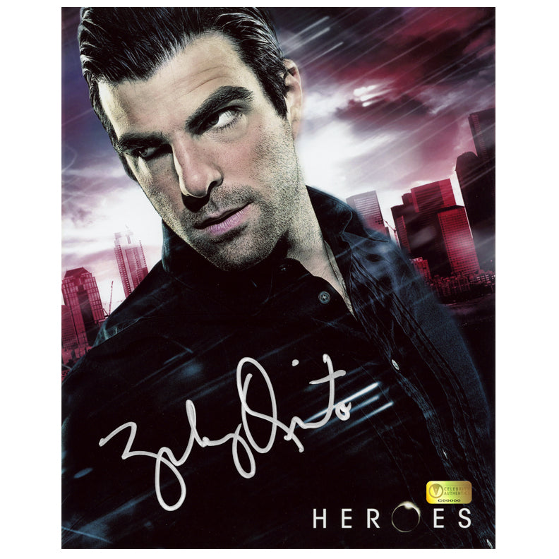 Zachary Quinto Autographed Heroes Sylar 8x10 Photo