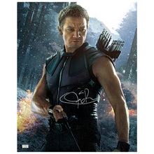 Load image into Gallery viewer, Jeremy Renner Autographed Avengers Age of Ultron Hawkeye 16x20 Photo