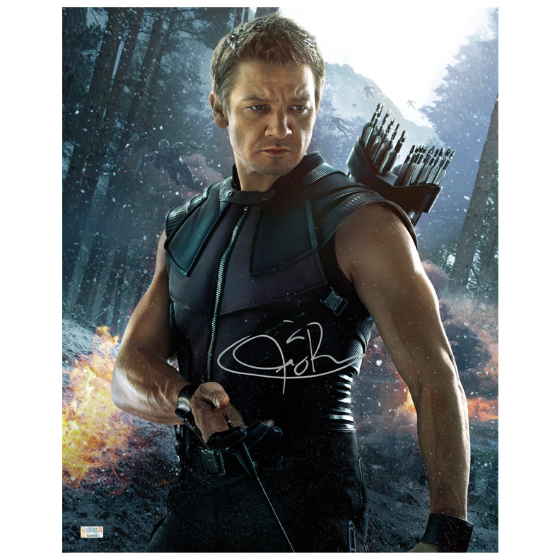Jeremy Renner Autographed Avengers Age of Ultron Hawkeye 16x20 Photo