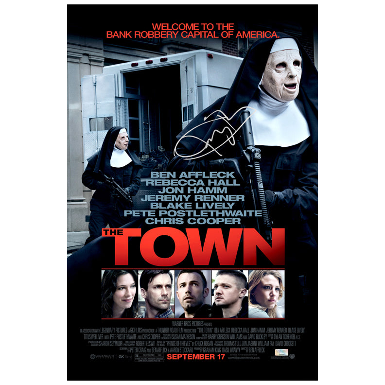 Jeremy Renner Autographed The Town 16x24 Poster