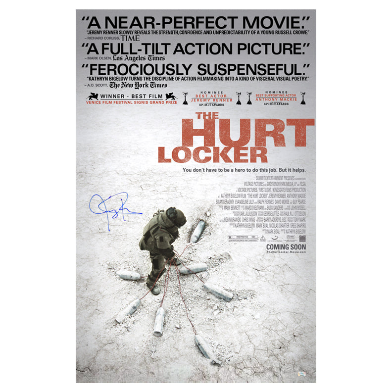 Jeremy Renner Autographed The Hurt Locker 27x40 Original Double Sided Poster