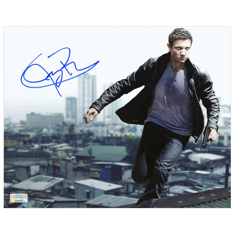 Jeremy Renner Autographed Bourne Legacy Aaron Cross 8x10 Photo