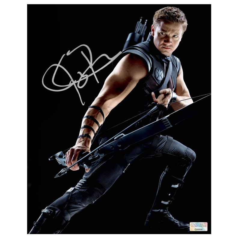 Jeremy Renner Autographed Avengers Hawkeye 8x10 Photo