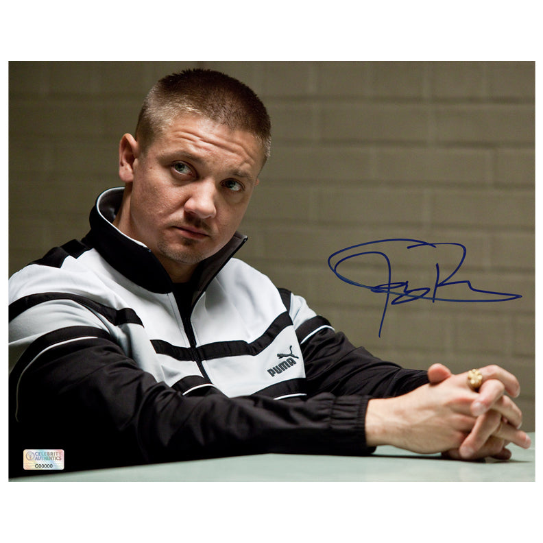 Jeremy Renner Autographed The Town James Coughlin 8x10 Photo