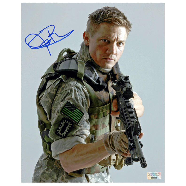 Jeremy Renner Autographed The Hurt Locker William James 8x10 Photo