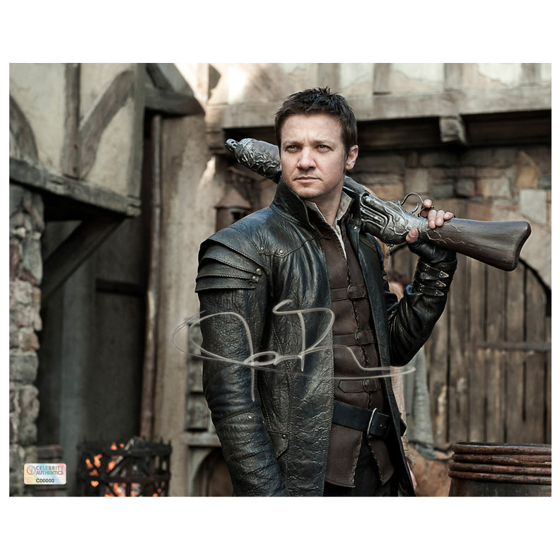 Jeremy Renner Autographed Hansel & Gretel Witch Hunters 8x10 Scene Photo