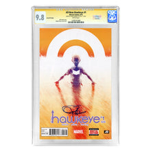Load image into Gallery viewer, Jeremy Renner Autographed Marvel All-New Hawkeye #1 Second Printing CGC SS 9.8