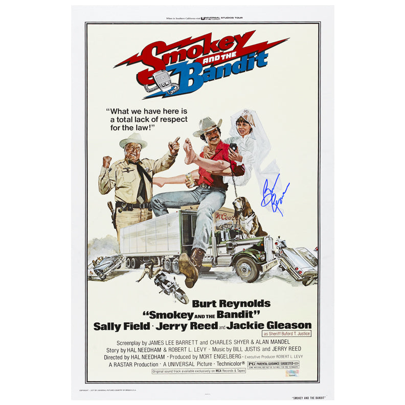 Burt Reynolds Autographed Smokey and The Bandit 16x24 Poster