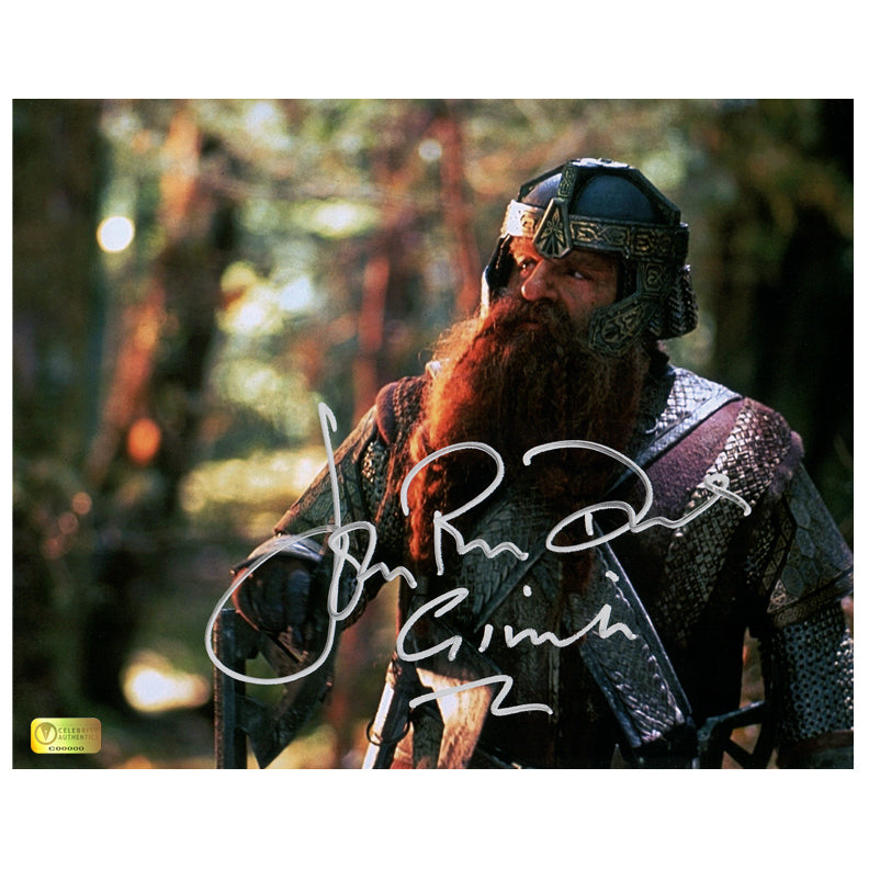 John Rhys-Davies Autographed Lord of the Rings Gimli 8x10 Photo