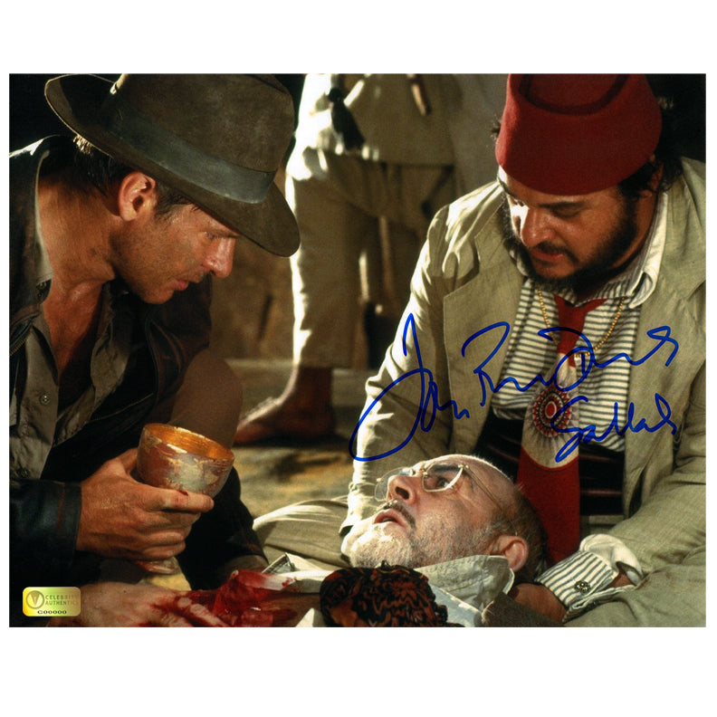 John Rhys-Davies Autographed Indiana Jones and the Last Crusade 8x10 Photo