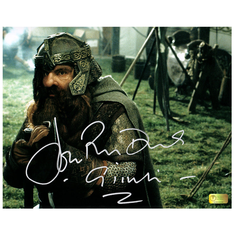 John Rhys-Davies Autographed Lord of the Rings 8x10 Photo