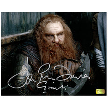 Load image into Gallery viewer, John Rhys-Davies Autographed Lord of the Rings Gimli Axe 8x10 Photo