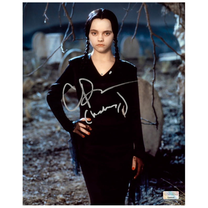Christina Ricci Autographed The Addams Family Wednesday Addams 8x10 Photo