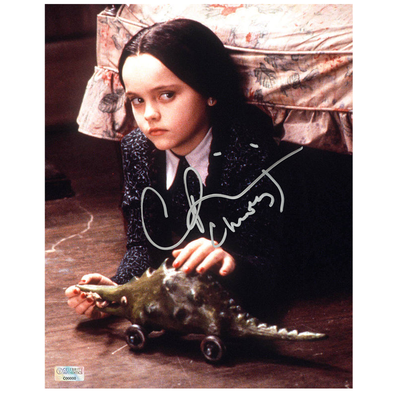 Christina Ricci Autographed The Addams Family Wednesday Addams 8x10 Scene Photo