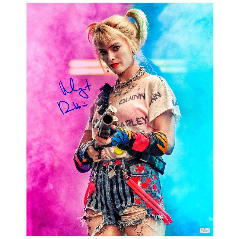 Margot Robbie Autographed Birds of Prey Harley Quinn 16x20 Studio Photo