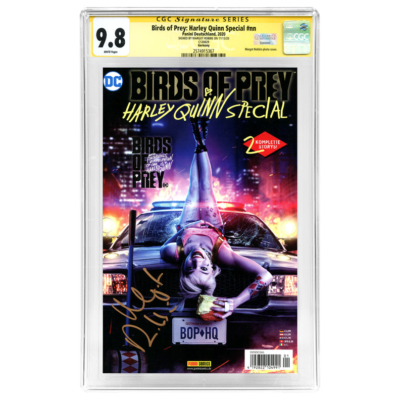 Margot Robbie Autographed Panini Birds of Prey: Harley Quinn Special German CGC SS 9.8 Mint