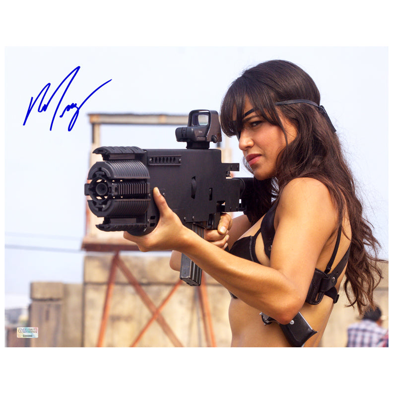 Michelle Rodriguez Autographed Machete She 11x14 Action Photo
