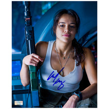 Load image into Gallery viewer, Michelle Rodriguez Autographed Avatar Trudy 8x10 Scene Photo
