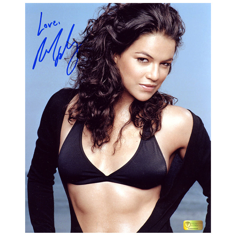 Michelle Rodriguez Autographed Beach Portrait 8x10 Photo