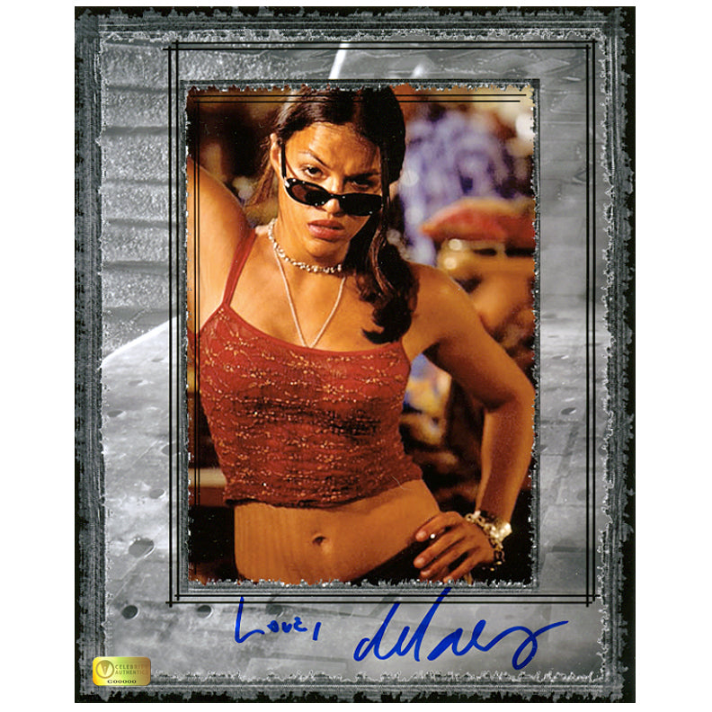 Michelle Rodriguez Autographed Fast and Furious Letty 8×10 Photo