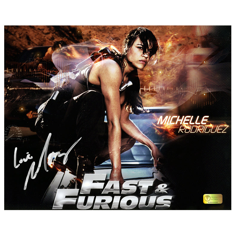 Michelle Rodriguez Autographed Fast and Furious Promo 8x10 Photo