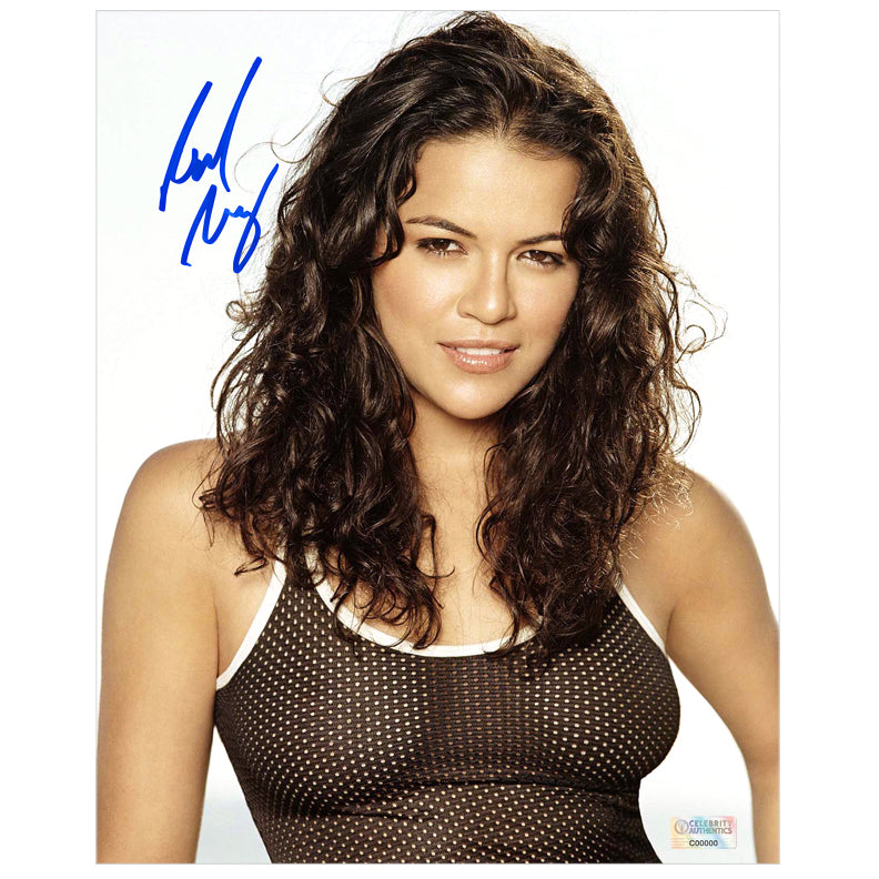 Michelle Rodriguez Autographed Smile 8x10 Portrait Photo