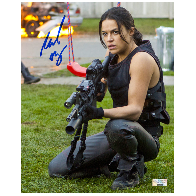 Michelle Rodriguez Autographed Resident Evil: Retribution Rain 8x10 Photo