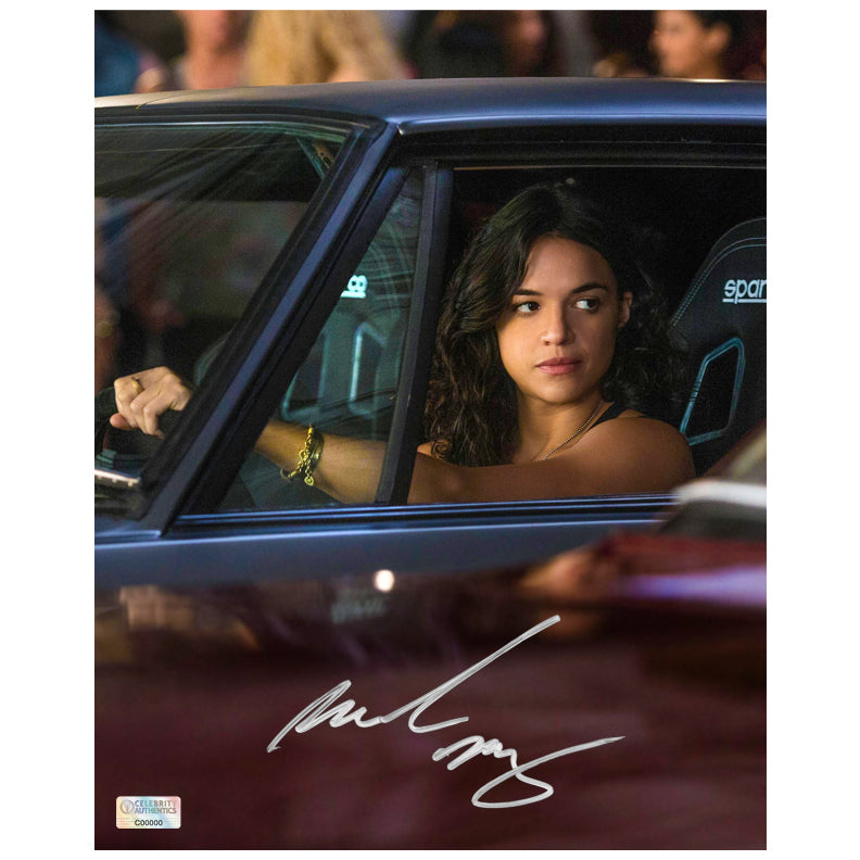 Michelle Rodriguez Autographed Fast and Furious Drive By 8x10 Photo