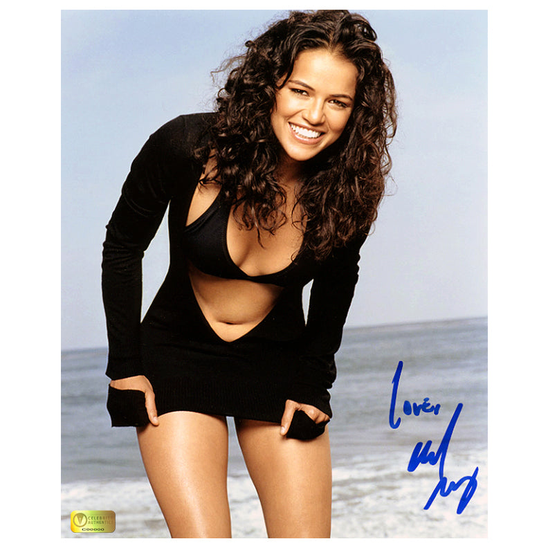 Michelle Rodriguez Autographed Swimsuit 8x10 Photo