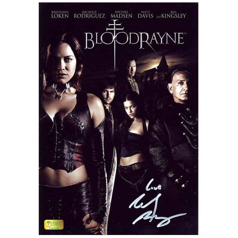 Michelle Rodriguez Autographed BloodRayne 8x12 Poster