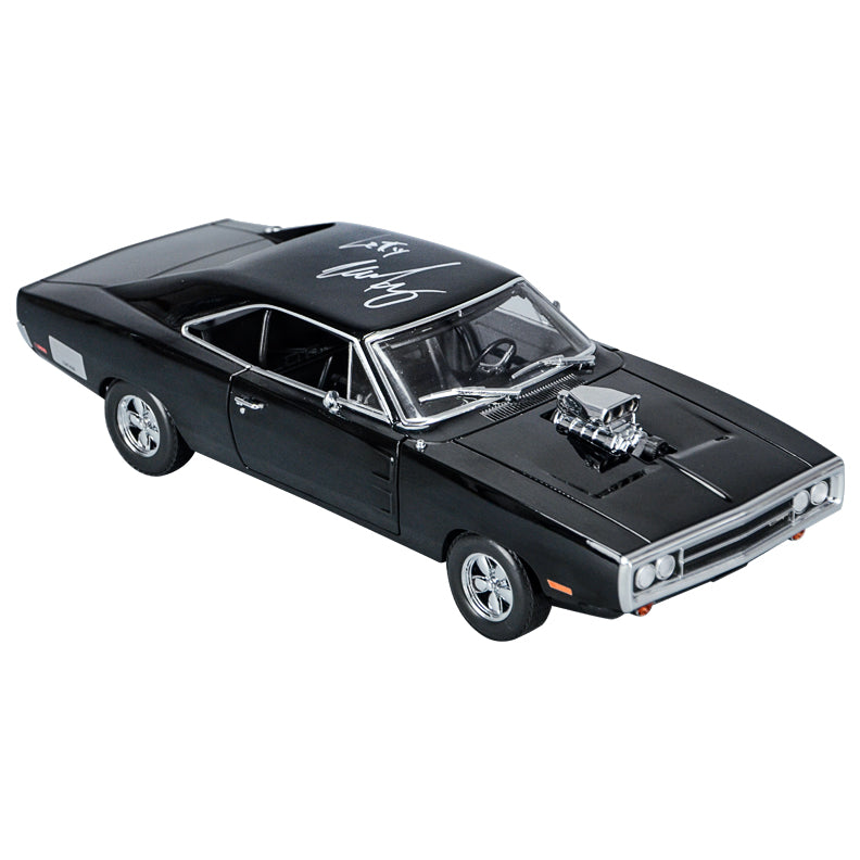 Michelle Rodriguez Autographed 1:18 Scale Die-Cast Fast and Furious Dom's 1970 Dodge Charger