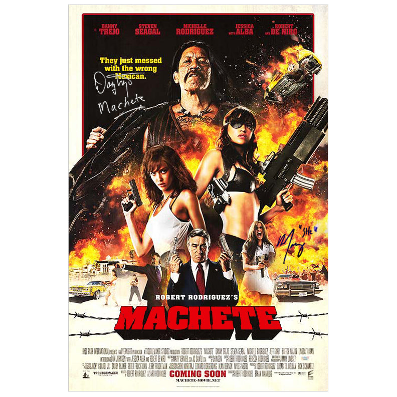 Danny Trejo and Michelle Rodriguez Autographed Machete International 27x40 DS Poster
