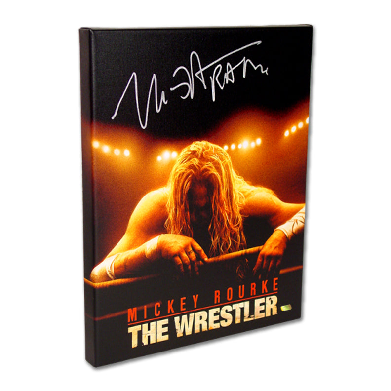 Mickey Rourke Autographed The Wrestler Movie Artwork 16x20 Canvas Gallery Edition