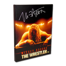 Load image into Gallery viewer, Mickey Rourke Autographed The Wrestler Movie Artwork 16x20 Canvas Gallery Edition