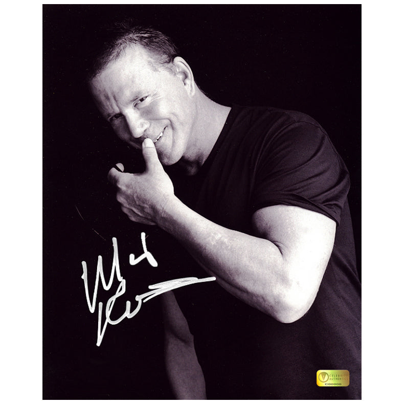 Mickey Rourke Autographed A Lighter Moment 8x10 Photo