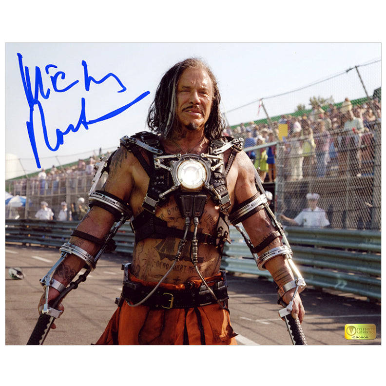 Mickey Rourke Autographed Iron Man 2 Whiplash 8x10 Photo