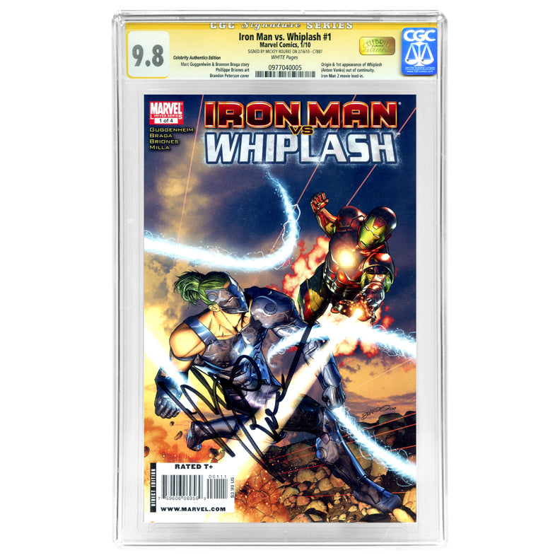 Mickey Rourke Autographed Iron Man vs. Whiplash #1 CGC SS 9.8