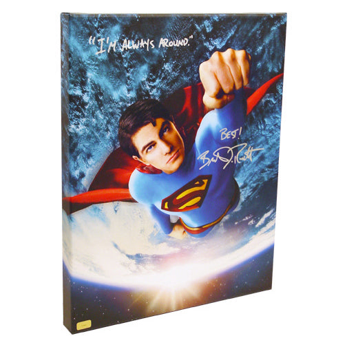 Brandon Routh Autographed Superman Returns Flight Gallery Edition 16x20 Canvas