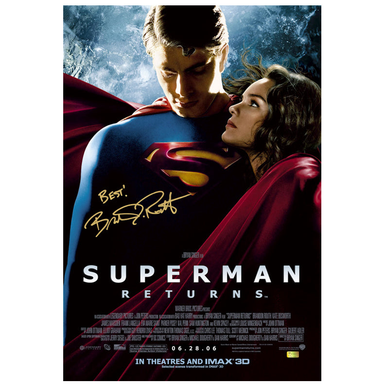 Brandon Routh Autographed Superman Returns 16×24 Poster